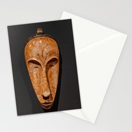 african Fang Ngil wooden mask Stationery Cards