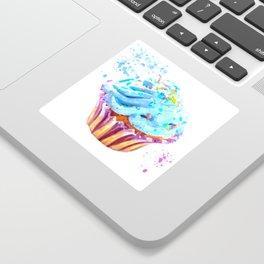 Cupcake watercolor illustration Sticker