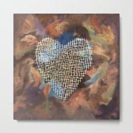 Cross Heart in Chaos Metal Print