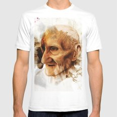 The Old man White MEDIUM Mens Fitted Tee