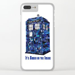 Tardis - It's Bigger on the Inside Clear iPhone Case