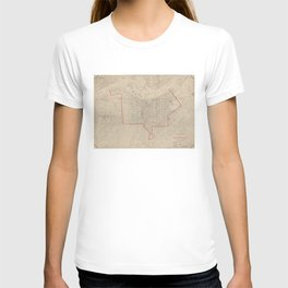 Vintage Map of Louisville KY (1880) T-shirt