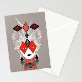 The Queen of diamonds Stationery Cards
