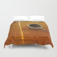 coffee Duvet Covers featuring Coffee by Viviana Gonzalez