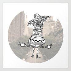 sombrero city party Art Print
