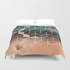 Ombre Dream Cubes Duvet Cover