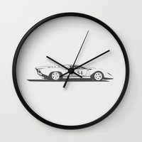 ferrari Wall Clocks featuring Ferrari 312P by Remove Before . . .