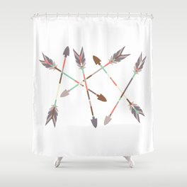 Arrow Stack Shower Curtain