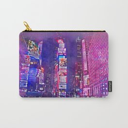 New York City Lights in Watercolor Carry-All Pouch