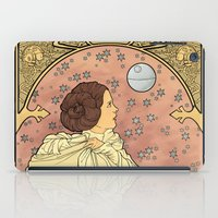 leia iPad Cases featuring La Dauphine Aux Alderaan by Karen Hallion Illustrations