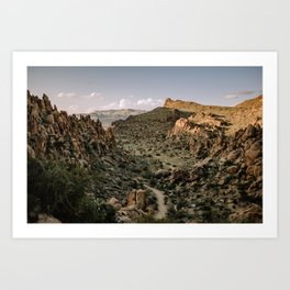 Balanced Rock Valley View in Big Bend - Landscape Photography Art Print