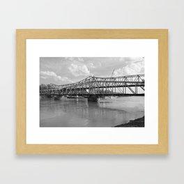 railroad bridge Framed Art Print