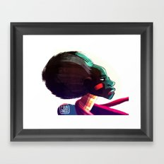 African woman Framed Art Print