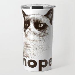 NOPE - Grumpy cat. Travel Mug