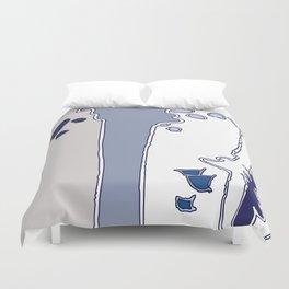 Blue Ceiba Duvet Cover