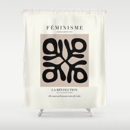 L'ART DU FÉMINISME X Shower Curtain