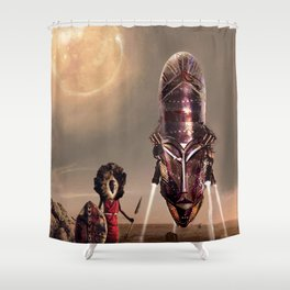 The Mothership Shower Curtain