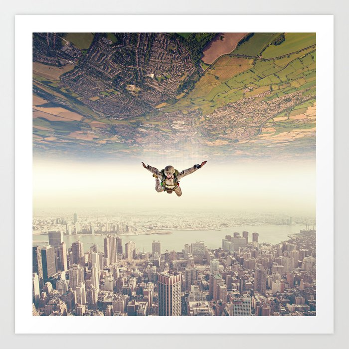Diving to the Parallel Worlds Art Print