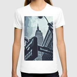 Streets of New York - Broadway view T-shirt