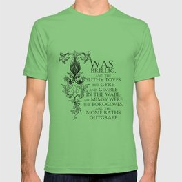 Alice In Wonderland Jabberwocky Poem T-shirt