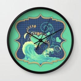Barefoot Beach Lovers Wall Clock
