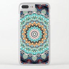 Colorful Kaleidoscope Rings Clear iPhone Case