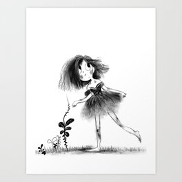 Gutter Girl Art Print