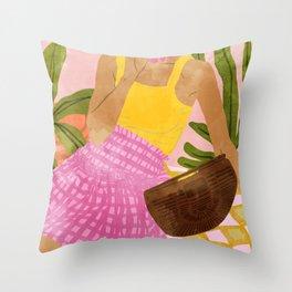 Flower Talk #illustration #painting Throw Pillow