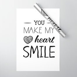 You make my heart smile Wrapping Paper