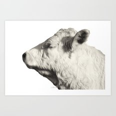 Bovine Profile Art Print
