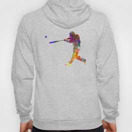 Baseball player hitting a ball Hoody