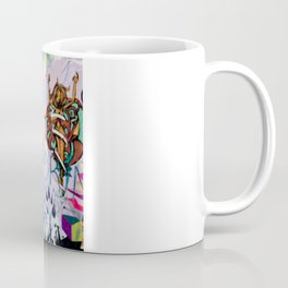 Woman and graffitti Coffee Mug