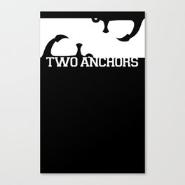 Double Anchor in White Canvas Print