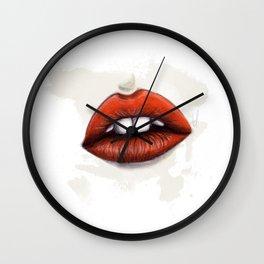 Velvet lips Wall Clock