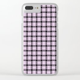 Small Pastel Violet Weave Clear iPhone Case