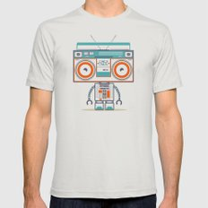 Music robot Mens Fitted Tee Silver MEDIUM