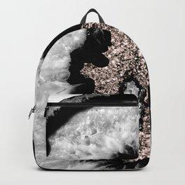 Gray Black White Agate Glitter Glamor #5 #gem #decor #art #society6 Backpack