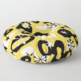 Retro Mid Century Modern Spaced Out Composition 328 Floor Pillow
