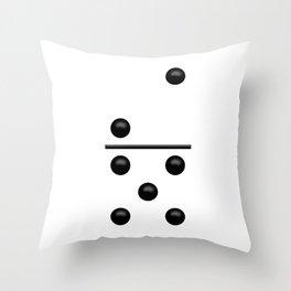 White Domino / Domino Blanco Throw Pillow