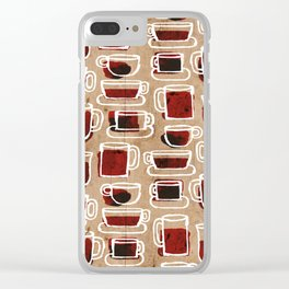 morning pattern Clear iPhone Case
