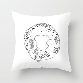 Montréal - Bagel - Black Throw Pillow