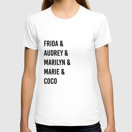 Influential Women Of History T-shirt