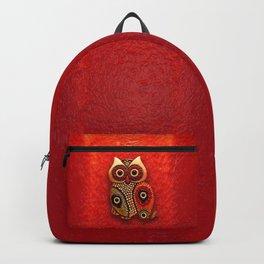 Retro Wood Owl Backpack