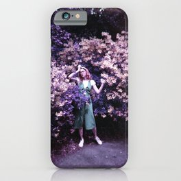 Girl in the Flowers - Holga Film Photograph iPhone Case