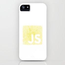 JS Wordcloud Programming Shirt for Javascript Deve iPhone Case