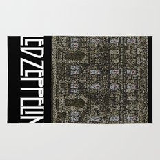 Physical Graffiti. Zeppelin lyrics print. Rug