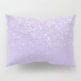 Stylish purple lavender glitter ombre color block Pillow Sham