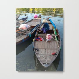 River Boats, Hoi An Metal Print
