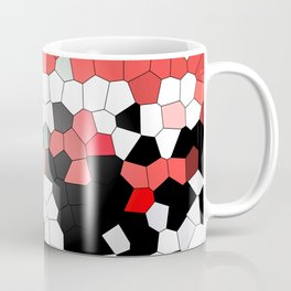 Red White Black Mosaik Graphic Coffee Mug