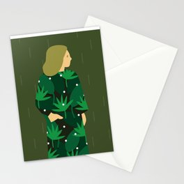 Waiting for spring rain Stationery Cards
